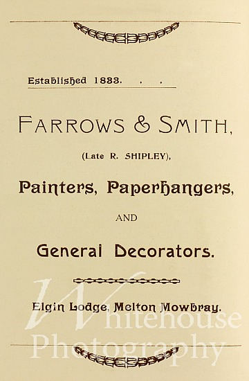 Farrows & Smith Coronation advert