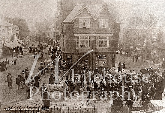 Vintage photo of the cheese fair in the market square