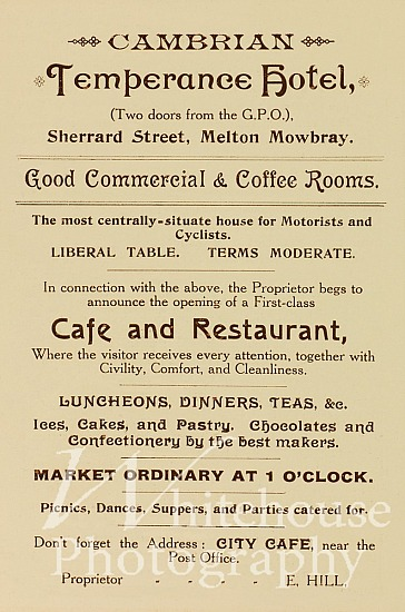 Hotel Cafe Coronation advert