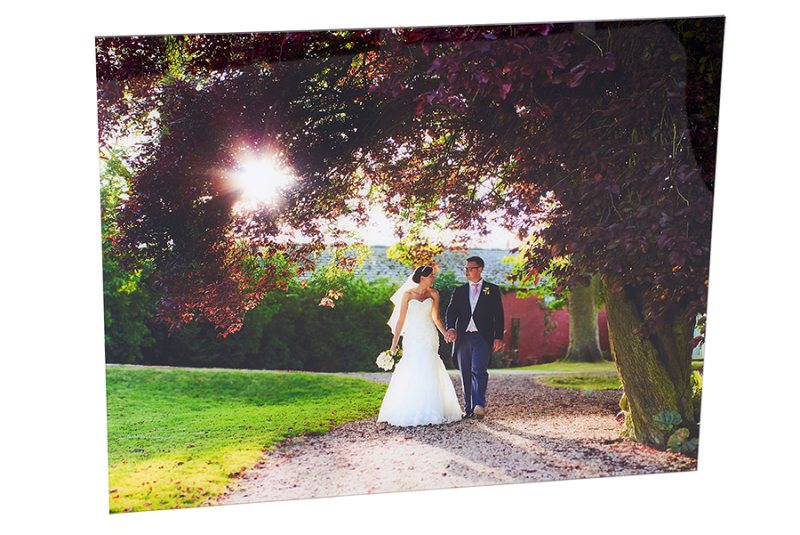 beautiful couple wedding day sun gloss wall art natural outdoor photography